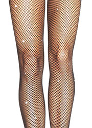 Leg Avenue Fishnet Tights With Rhinestone Detail Zoom 2