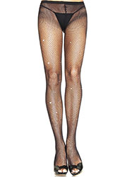 Leg Avenue Fishnet Tights With Rhinestone Detail Zoom 1