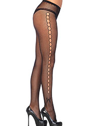 Leg Avenue Fishnet Tights With Side Keyhole And Butterfly Detail