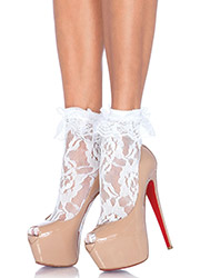 Leg Avenue Lace Anklet With Ruffle Zoom 2