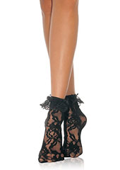 Leg Avenue Lace Anklet With Ruffle Zoom 3