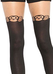 Leg Avenue Monkey Business Suspender Tights Zoom 3