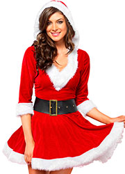 Leg Avenue Mrs Claus Costume Zoom 2