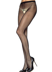 Leg Avenue Nylon Crotchless Tights Zoom 2