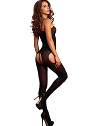 Leg Avenue Opaque Suspender Bodystocking Zoom 2