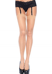 Leg Avenue Plus Size Sheer Stockings (1001Q) Zoom 2