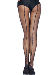 Leg Avenue Rhinestone Backseam Professional Dance Tights