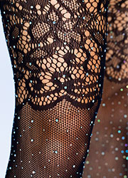 Leg Avenue Rhinestone Fishnet Stockings Zoom 3