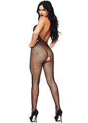 Leg Avenue Seamless Peek A Boo Fishnet Bodystocking Zoom 2