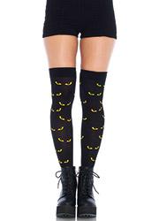 Leg Avenue Spooky Eyes Thigh High Socks
