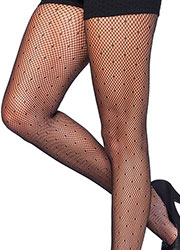 Leg Avenue Starlet Dotted Net Tights Zoom 2
