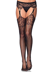 Leg Avenue Tear Drop Garterbelt Tights