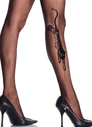 Leg Avenue Tiger Tattoo Tights Zoom 2