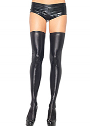 Leg Avenue Wet Look Hold Ups (6901)