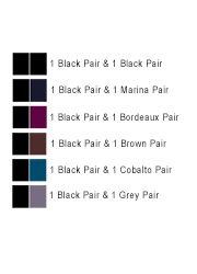 Le Bourget All Colours Slide Touch 50D Opaque Tights 2 Pair Pack Zoom 2