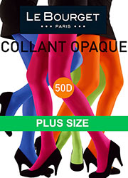 Le Bourget All Colours Slide Touch 50D Plus Size Opaque Tights