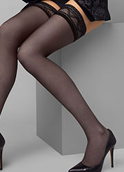 Le Bourget Allure Dentelle Angel Hold Ups Zoom 2