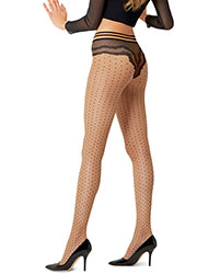 Le Bourget Charme Polka Dot Tights