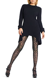 Le Bourget Exquis Patterned Tights Zoom 1
