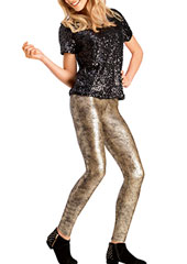 Le Bourget Gold Lingot Pantalon Leggings Zoom 1