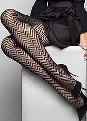Le Bourget Heritage Luxe Chevron Tights Zoom 2