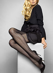 Le Bourget Heritage Luxe Chevron Tights Zoom 1