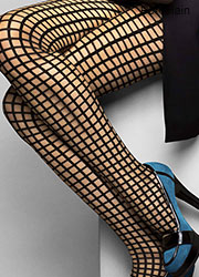 Le Bourget Heritage Luxe Resille Grid Tights Zoom 2