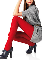 Le Bourget Laine Cable Wool Tights
