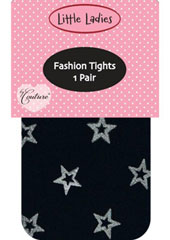 Couture Little Ladies Glitter Star Children's Tights