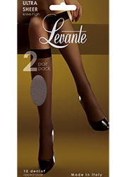Levante Ultra Sheer Knee Highs 2PP