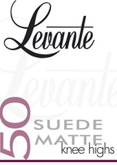 Levante Suede Matte 50 Denier Knee Highs