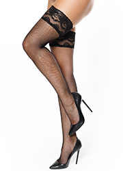 Miss O Fishnet Lace Top Hold Ups Zoom 2