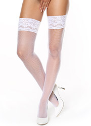 Miss O Fishnet Lace Top Hold Ups