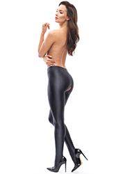 Miss O Gloss Opaque Open Crotch Tights Zoom 3