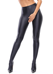 Miss O Gloss Opaque Open Crotch Tights Zoom 2