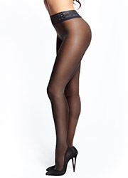 Miss O Sheer Gloss Lace Open Crotch Tights Zoom 3