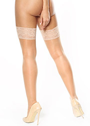 Miss O Sheer Gloss Lace Top Hold Ups Zoom 2