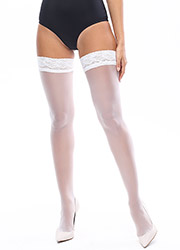 Miss O Sheer Gloss Lace Top Hold Ups Zoom 1