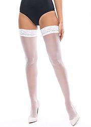 Miss O Sheer Gloss Lace Top Hold Ups