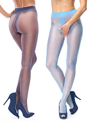 Miss O Sheer Gloss Open Crotch Tights Zoom 3