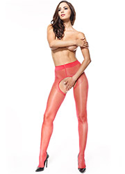 Miss O Sheer Open Tights With Decorative Brief And Backseam Zoom 2