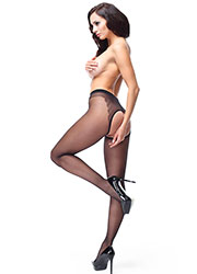 Miss O Sheer Open Tights With Decorative Brief Zoom 4