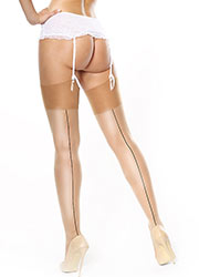 Miss O Shiny Backseam Stockings