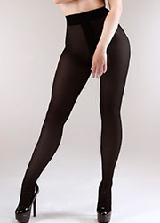 Miss Naughty 100 Denier Blackout Crotchless Tights Zoom 2
