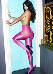 Miss Naughty Metallic Shine Crotchless Tights Zoom 4