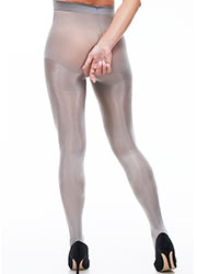 Miss Naughty Metallic Shine Crotchless Tights Zoom 2
