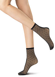 Oroblu Abstract Embellished Silver Line Socks Zoom 1