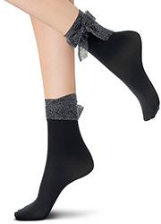 Oroblu Abstract Embellished Glitter Ribbon Socks Zoom 2