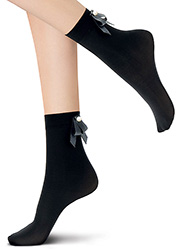 Oroblu Abstract Embellished Pearl Bow Socks Zoom 2