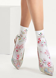 Oroblu Cristelle Floral Socks Zoom 1